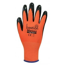 Bastion Marxen Large High Vis Orange Poly w Black Nitrile Coating PR
