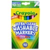 Crayola Ultra Clean Washable Color Fine Markers PK 10