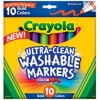 Crayola Ultra Clean Washable Bold Color Markers PK 10