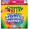 Crayola Ultra Clean Washable Color Broad Markers PK 10
