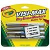 Crayola Visi Max Dry Erase WB Bullet Tip Assort PK 4