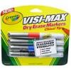 Crayola Visi Max Dry Erase WB Chisel Tip Assort PK 4
