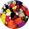 Pom Poms Standard Assorted Colours Pk 150 (PK 150)