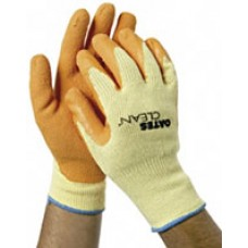 Mighty Grip Glove Rough Latex Palm Knit Back Med Lge PK 6