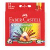 Faber Castell Tri Grip Wax Crayons Pk 12 Assorted (PK 12)