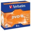 Verbatim DVD-R 4.7Gb 16x Jewel Case Pk 5 (PK 5)