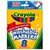 Crayola Classic Washable Colours Pk 8 (PK 8)