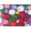 Glitter Pom Poms Assorted Colours (PK 200)