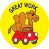 Merit Stickers Great Work Camel PK 100
