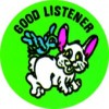 Merit Stickers Good Listener PK 100