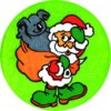 Merit Sticker Santa with Koala PK 100
