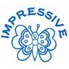 Deskmate Pre Ink Merit Stamps IMPRESSIVE Blue (EA)