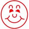 Deskmate Pre Ink Merit Stamps SMILEY FACE Red EA