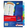 Avery Readyindex Doube Dividers A4 PP 1-15 (EA)